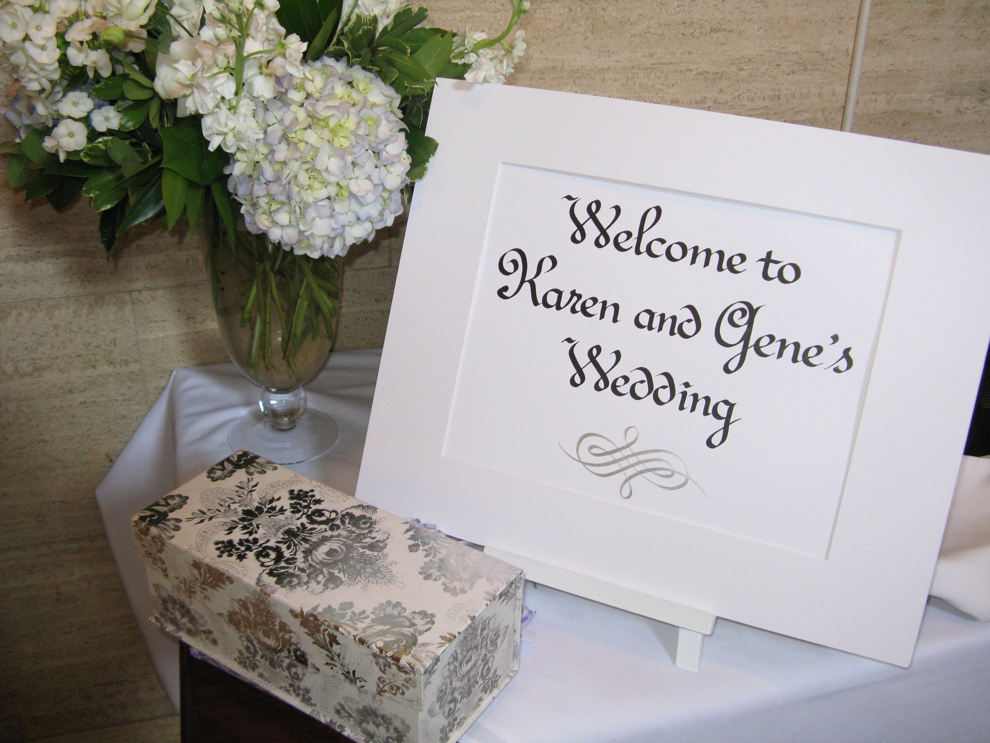 Wedding Sign – Michele Nidenoff